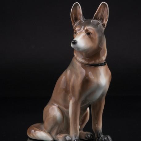 Фарфоровая фигурка собаки Овчарка, Karl Ens, Германия, 1920-30 гг.