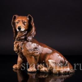 Фарфорвая статуэтка собаки Такса, Karl Ens, Германия, 1920-30 гг.