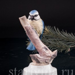 Статуэтка птицы из фарфора Лазоревка, Англия, вт. пол. 20 в.
