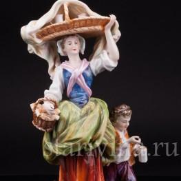 Фарфоровая статуэтка Торговка, Тюрингия Германия, Кон 19, нач. 20 вв.